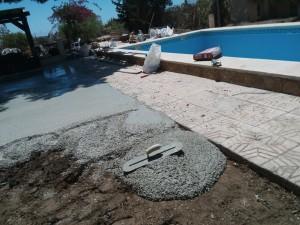 Trabajos de hormigonado en piscinas en Alicante. Reformas en El Campello Alex.